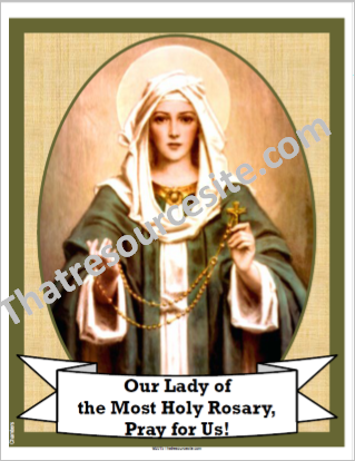 Poster of Our Lady of the Rosary