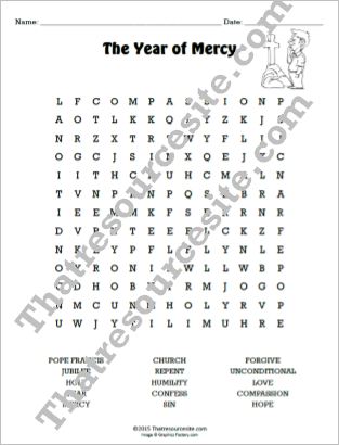 Year of Mercy Word Search