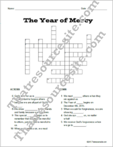 Year of Mercy Crossword Puzzle