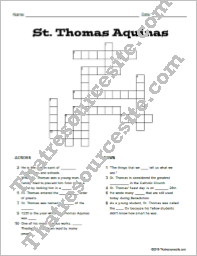 St. Thomas Aquinas Crossword Puzzle