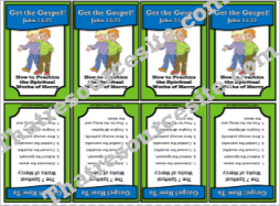 Get the Gospel Trading Card How to Practice the Spiritual Works of Mercy