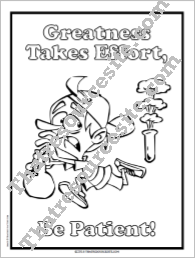 Greatness Takes Time Coloring Sheet