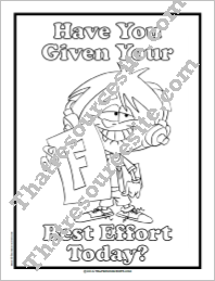 Have You Given Your Best Effort Today Coloring Sheet