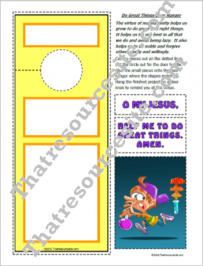 Do Great Things Door Hanger Activity