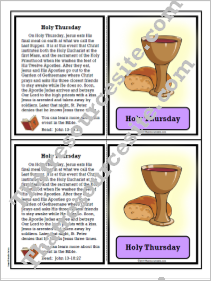 Holy Thursday Learning Card