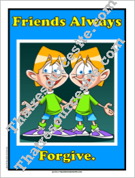 Friends Always Forgive Poster