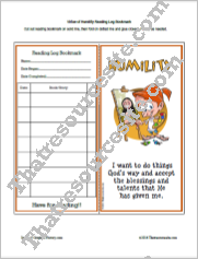 Virtue of Humility Reading Log Bookmark