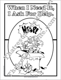 I Ask for Help Coloring Sheet