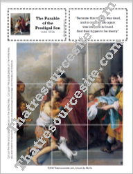 Picture Puzzle for the Parable of the Prodigal Son