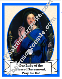 Our Lady of the Blessed Sacrament Poster