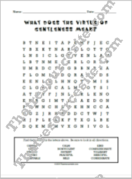 Virtue of Gentleness Word Search