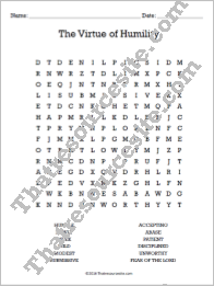 Virtue of Humility Word Search