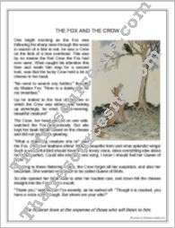 Aesop's Fable:  The Fox and the Crow