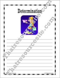 Virtue of Determination Writing Paper