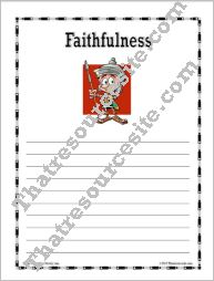 Virtue of Faithfulness Writing Paper