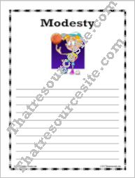 Virtue of Modesty Writing Paper