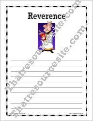 Virtue of Reverence Writing Paper