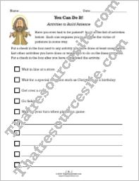 Activities to Build Patience Worksheet