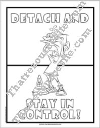 Detach and Stay in Control Coloring Sheet