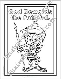 God Rewards the Faithful Coloring Sheet