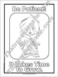 Be Patient Coloring Sheet