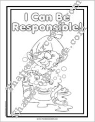 I Can Be Responsible Coloring Sheet
