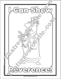 I Can Show Reverence Coloring Sheet