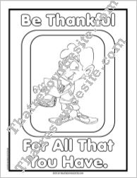 Be Thankful Coloring Sheet