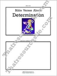 F3 Tab Booklet – Bible Verses About Determination