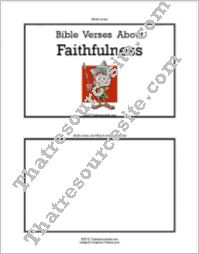 F3 Tab Booklet – Bible Verses About Faithfulness