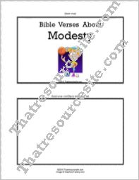 F3 Tab Booklet – Bible Verses About Modesty