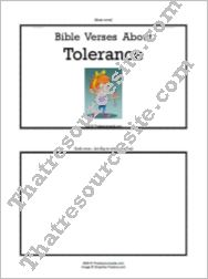 F3 Tab Booklet – Bible Verses About Tolerance
