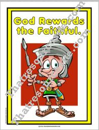 God Rewards the Faithful Poster