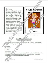 Prayer Card for the Virtue of Love