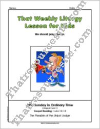 That Weekly Liturgy Lesson for Kids – 29th Sunday in Ordinary Time (Cycle C)