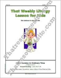 That Weekly Liturgy Lesson for Kids – 32nd Sunday in Ordinary Time (Cycle C)