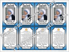 Mother Teresa Saint Trading Card