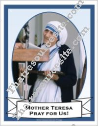 Poster of Mother Teresa