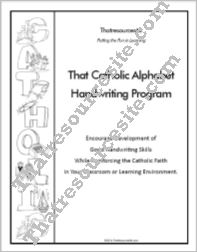 That Catholic Alphabet Handwriting Program Teacher Guide
