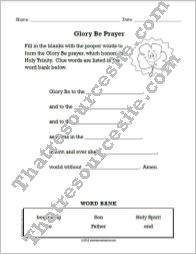 Learn the Glory Be Prayer