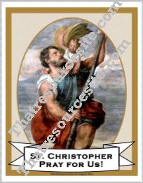 Poster of St. Christopher