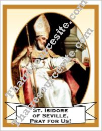 Poster of St. Isidore of Seville