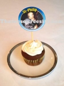 Sample of St. Philip cupcake decoration