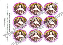St. Therese of Lisieux Cupcake Topper