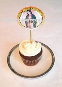 Sample of Our Lady of Guadalupe Cupcake Decoration