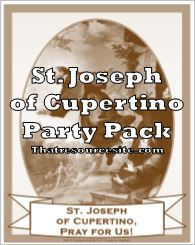 St. Joseph of Cupertino Saint Party Pack