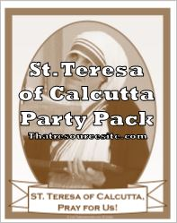St. Teresa of Calcutta Saint Party Pack