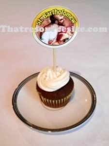 Sample of the St. Bartholomew cupcake decoration