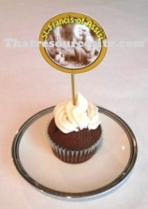 Sample of St. Francis of Assisi Cupcake Decoration