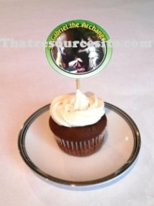 Sample of St. Gabriel cupcake decoration